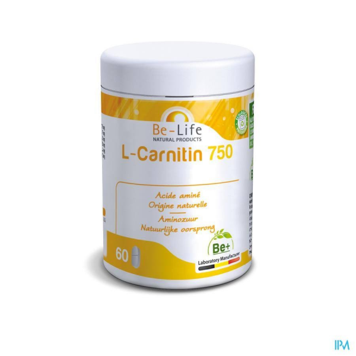 L-CARNITIN (carnitine) 750 - 60 gélules - Be-Life (Biolife)