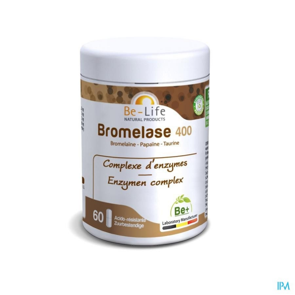 BROMELASE 400 NEW - 60 gélules - Be-Life (Biolife)