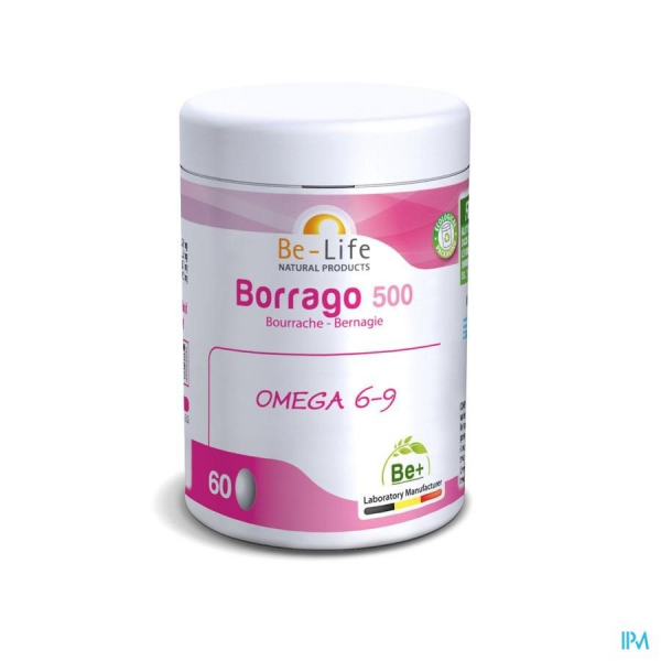 BE-LIFE Borrago 500 Bio - 60 gel
