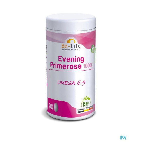 EVENING PRIMEROSE (huile d'onagre) 1000 BIO - 90 caps. - Be-Life (Biolife)