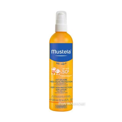 MUSTELA Bébé Lait Protection Solaire SPF50+ - 300 ml