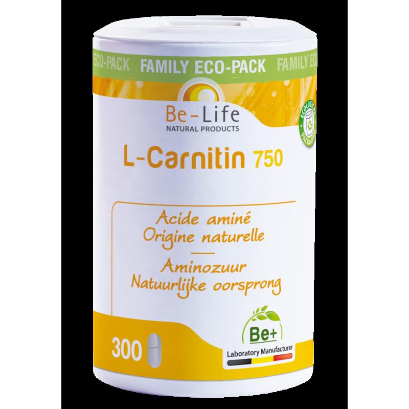 L-CARNITIN (carnitine) 750 - 300 gélules - Be-Life (Biolife)