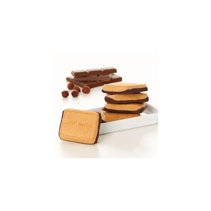 SEROVANCE Biscuits saveur Noisettes socle chocolat - 8 sachets