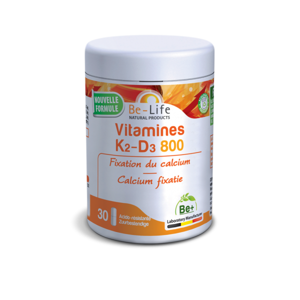 BE-LIFE Vitamines K2-D3 800 - 30 gel